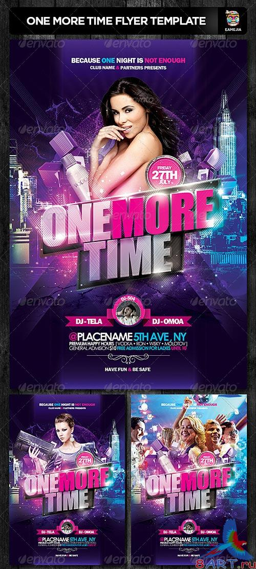 GraphicRiver One More Time Flyer Template