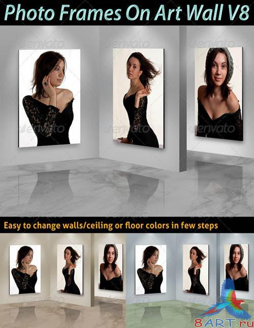 GraphicRiver Photo Frames On Art Wall V8