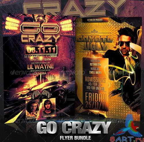 GraphicRiver Go Crazy Flyer Bundle