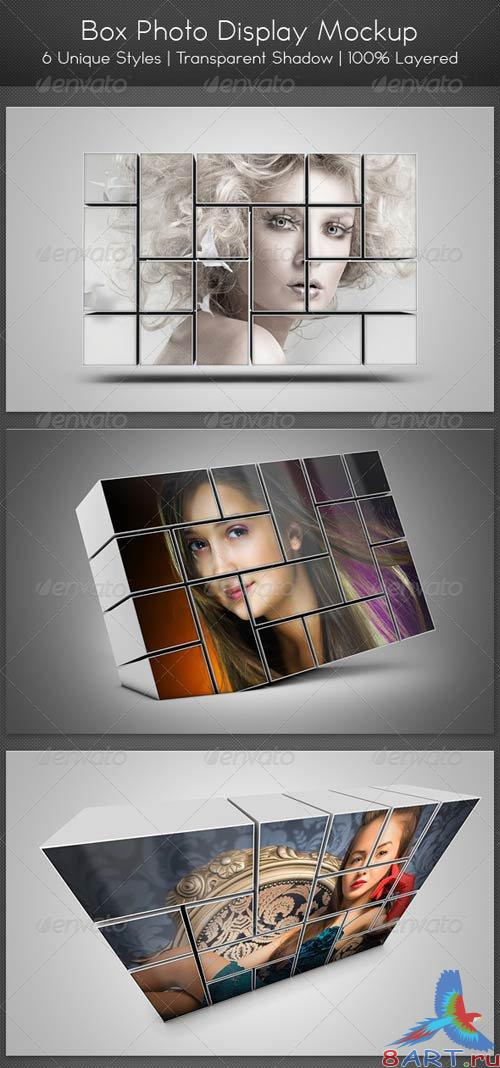 GraphicRiver Box Photo Display Mockup