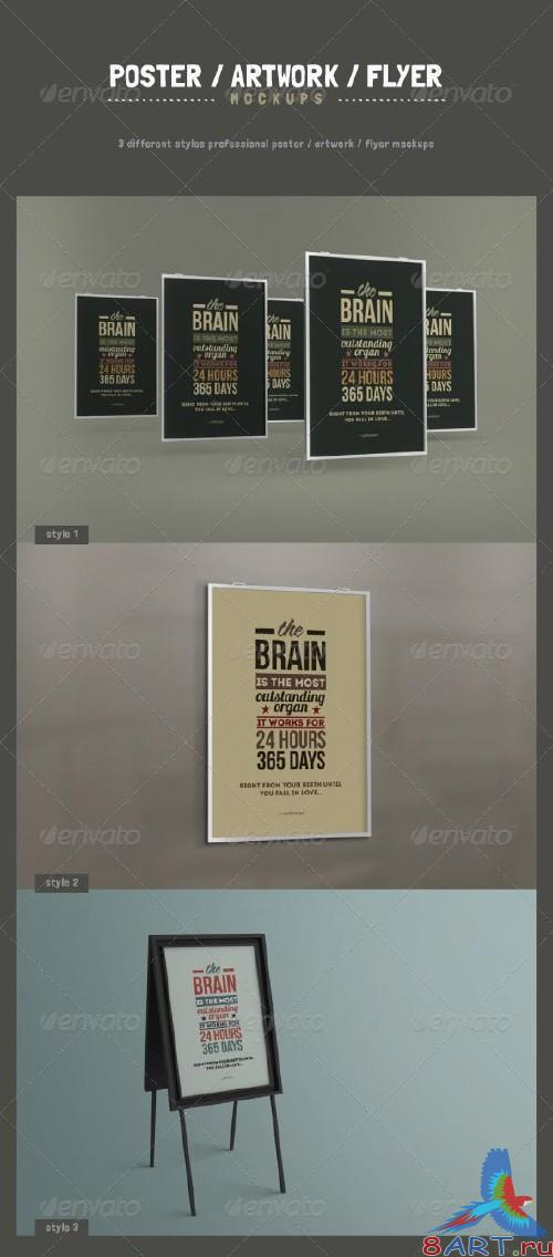 GraphicRiver Poster / Artwork / Flyer Mockups