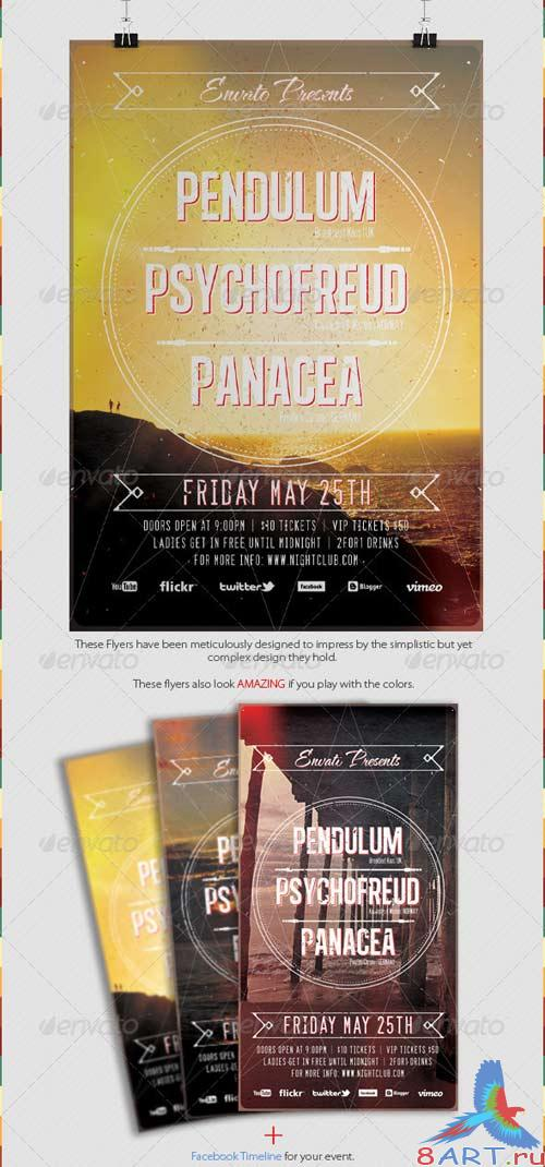 GraphicRiver Retro Aged Party Flyer Template