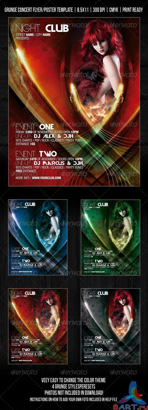 Gothic Night Club Party / Concert Flyer