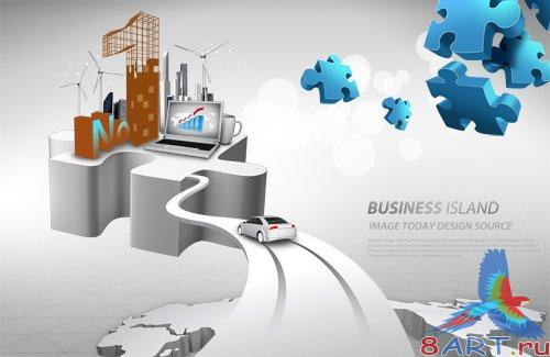 PSD Source - Business Puzle