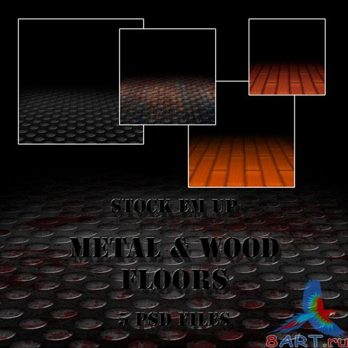 Metal And Wood Floors PSD Template