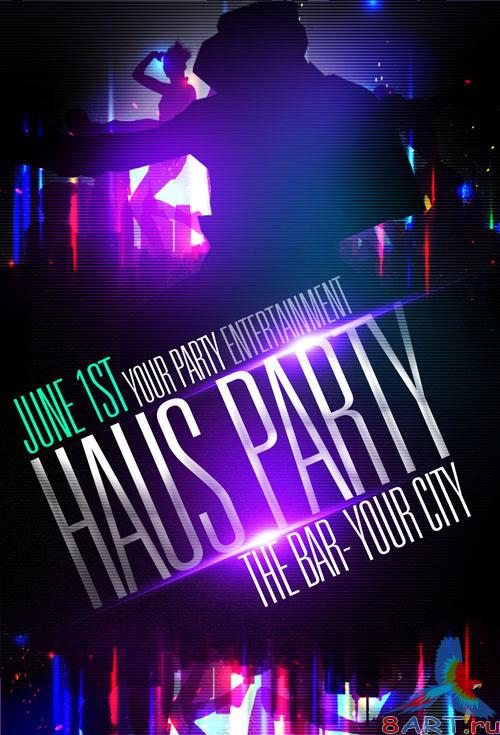 PSD Template - Haus Party Flyer/Poster