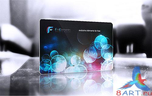 Plastic Credit Card Business Card Mockup PSD Template
