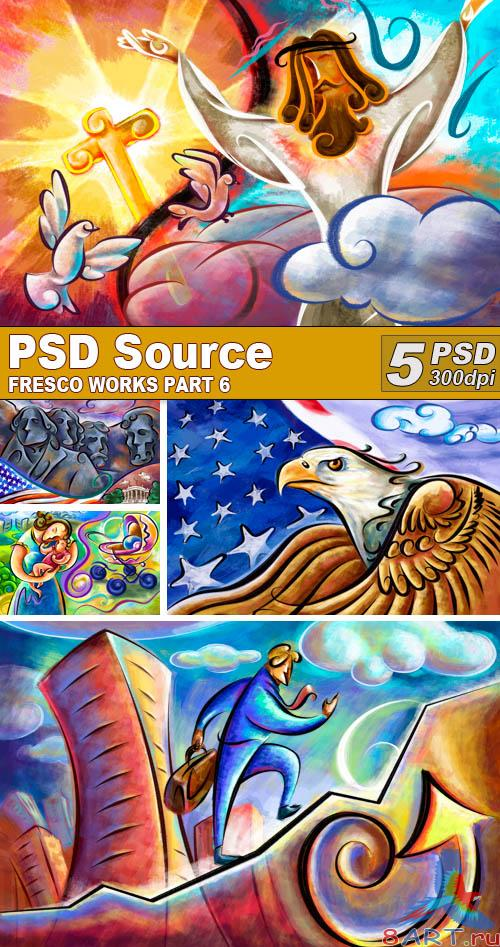 PSD Illustrations - Fresco works 6