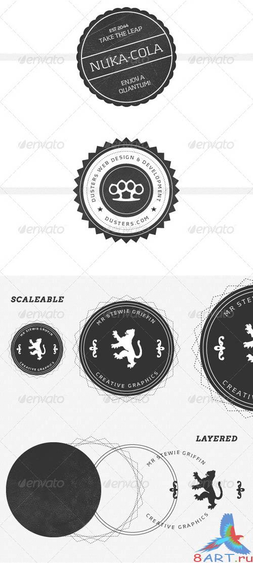 GraphicRiver Modern, Vintage Inspired Logo Stamps