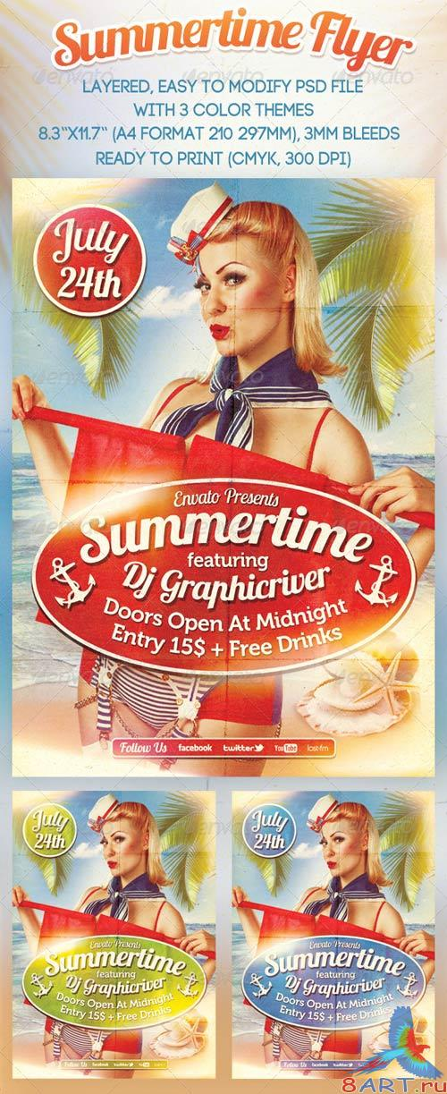 GraphicRiver Summertime Flyer