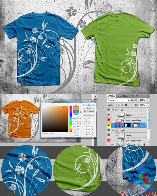 Mockup T-shirt Design PSD Template