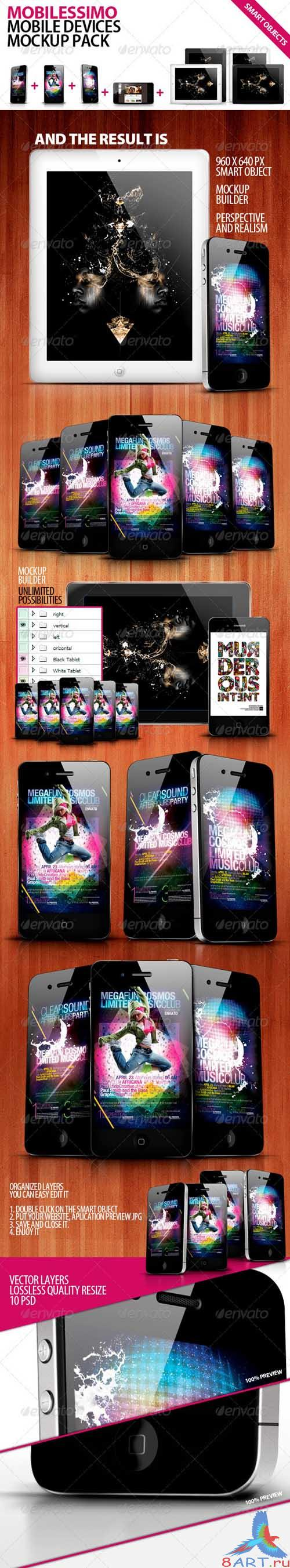 GraphicRiver Mobilisimo Mobile Phone & Mobile Pad Mock-ups