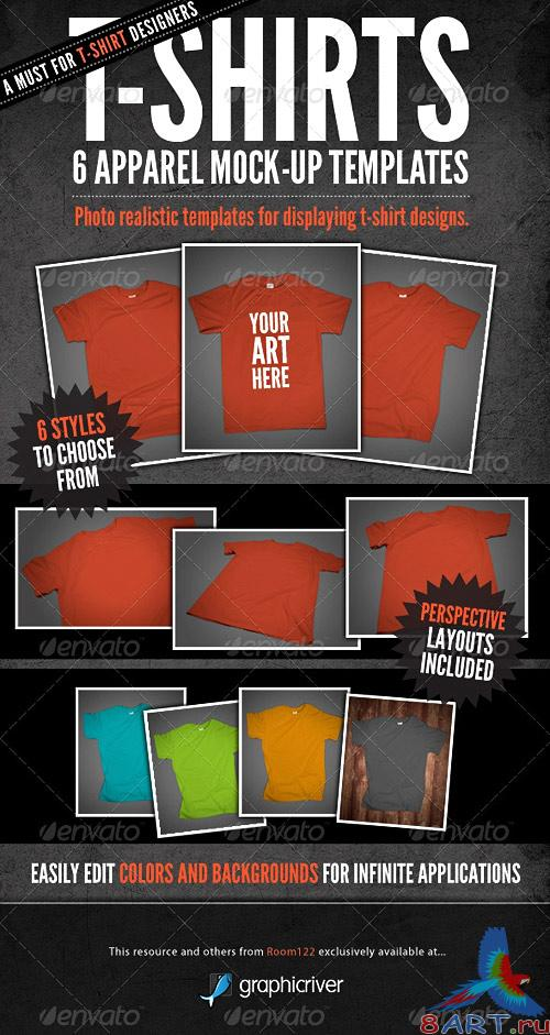 T-Shirt Mock-Ups - Apparel Design (GraphicRiver)