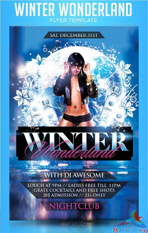 GraphicRiver Winter Wonderland Flyer Template