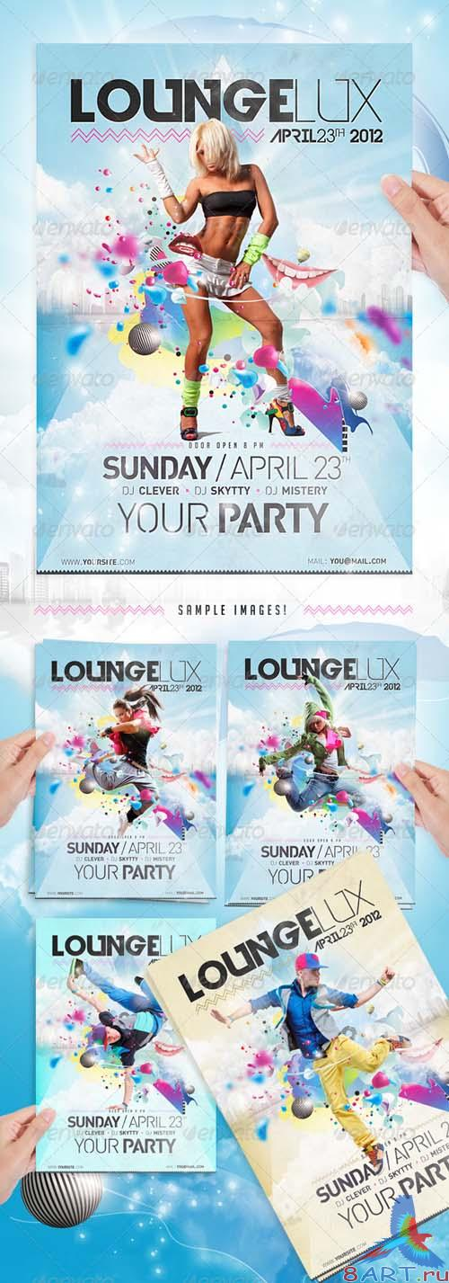 GraphicRiver Lounge Party Flyer Template