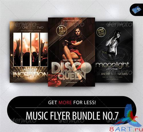 GraphicRiver Music Flyer Bundle No.7