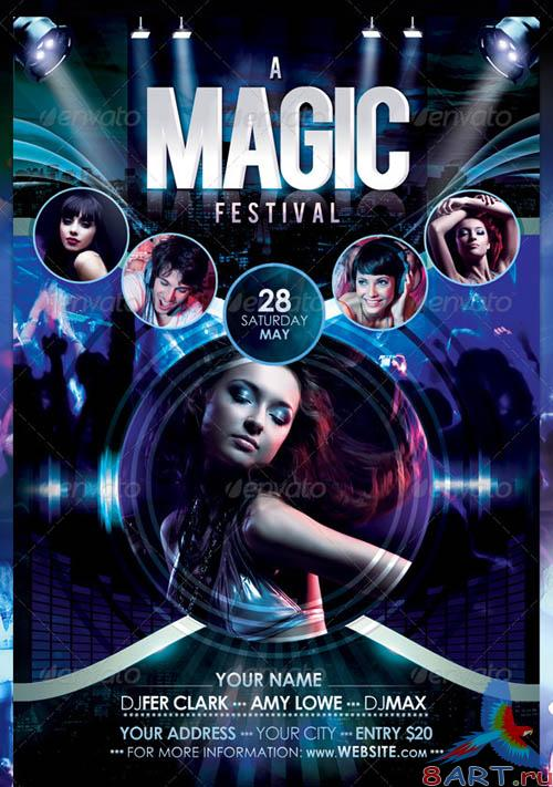 GraphicRiver A Magic Festival Flyer Template