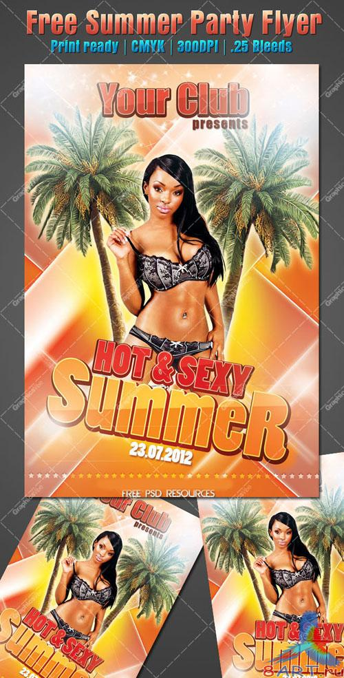 PSD Template - Hot and Sexy Summer Party Flyer/Poster