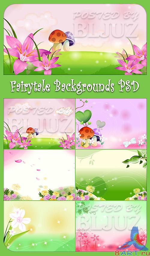Fairytale Backgrounds PSD