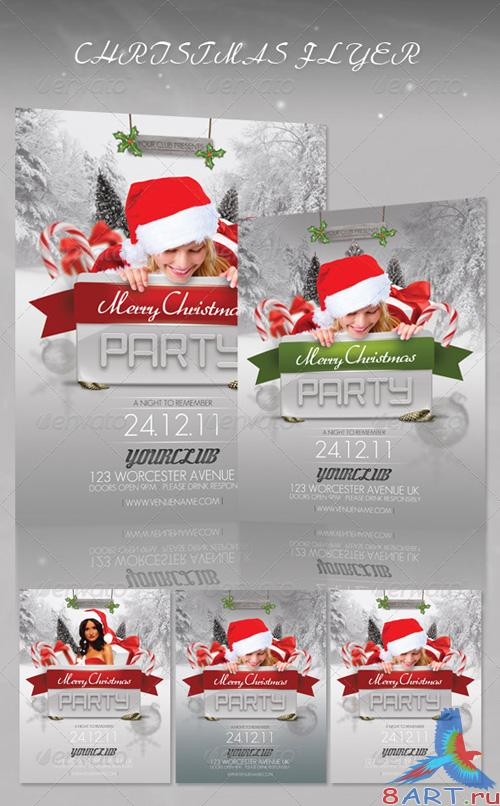 GraphicRiver Christmas Party Flyer 889527