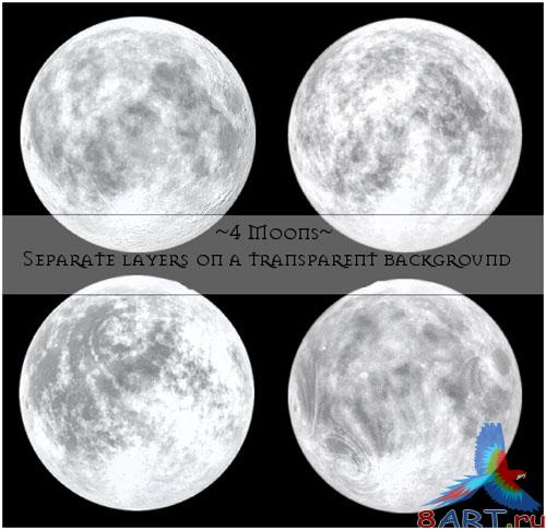 4 Moons PSD Template