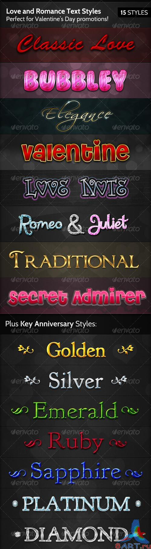 GraphicRiver Love and Romance Text Styles - REUPLOAD
