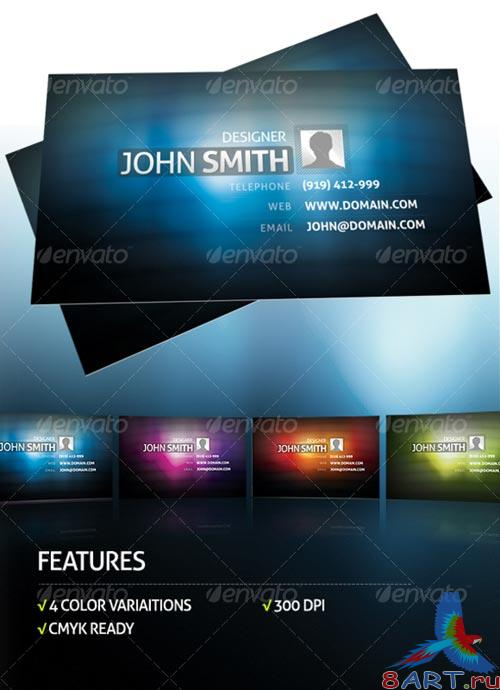 GraphicRiver 4 Colors Business Card