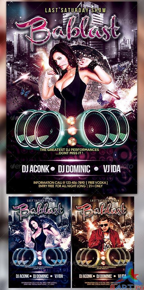 GraphicRiver Bablast Party Flyer