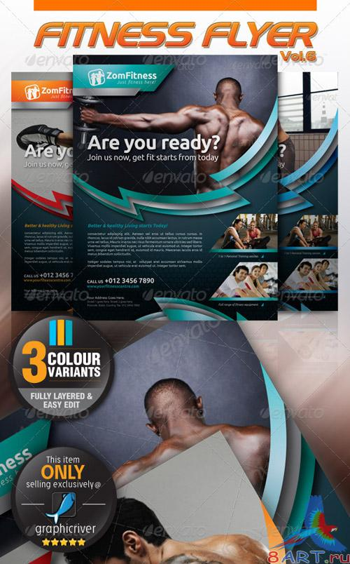 GraphicRiver Fitness Flyer Vol.6