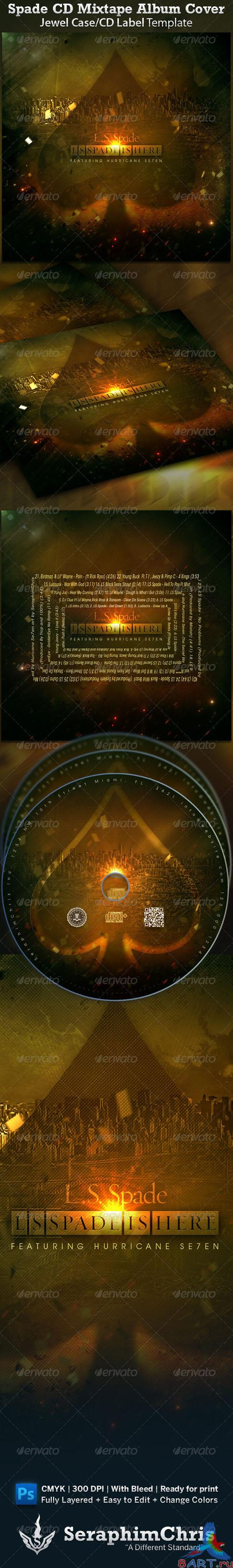 GraphicRiver - Spade CD Cover Mixtape Template 1545913