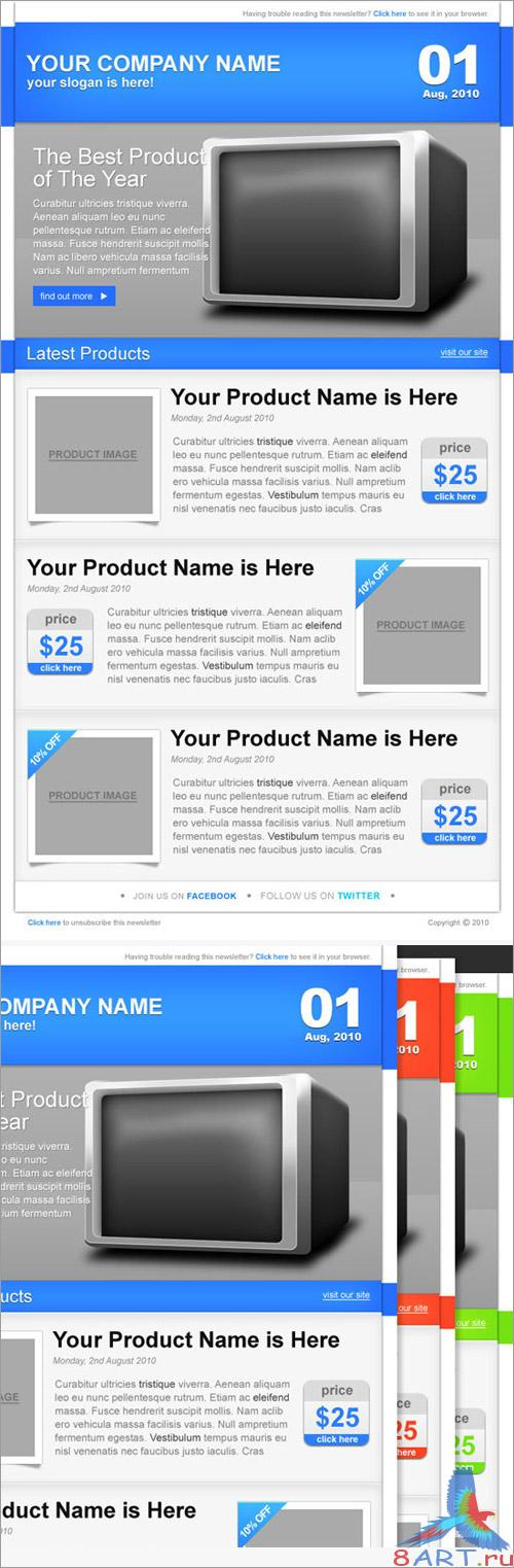 E-commerce Newsletter PSD Template