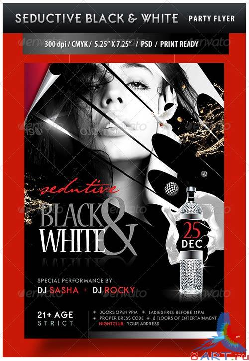 GraphicRiver Seductive Black and White Party Flyer