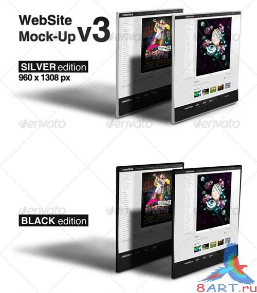 GraphicRiver WebSite Mock-Up v3