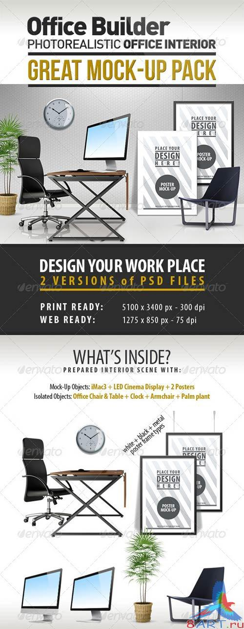 GraphicRiver Office Interior Builder - Mock Up