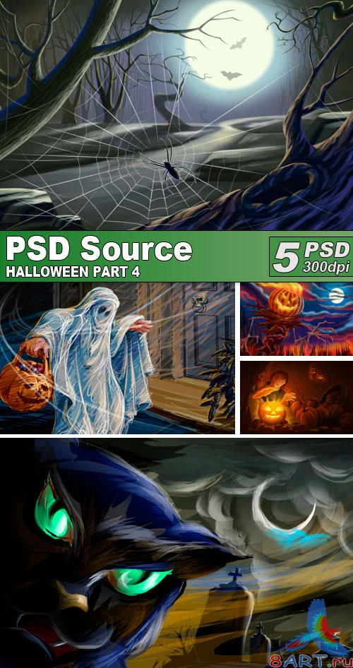 PSD Illustrations - Halloween 4