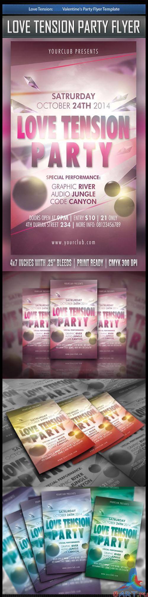 Happy Valentine Flyer/Poster PSD Template