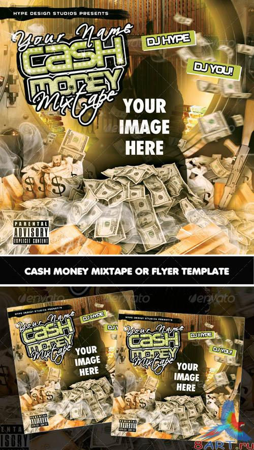 GraphicRiver Cash Money Mixtape or Flyer Template