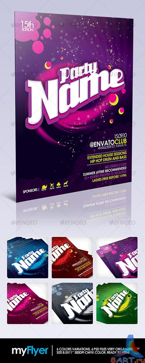 GraphicRiver - myFlyer - Party Celebration Flyer