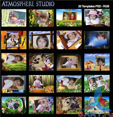 Atmosphere Studio Album Templates - Children vol.5