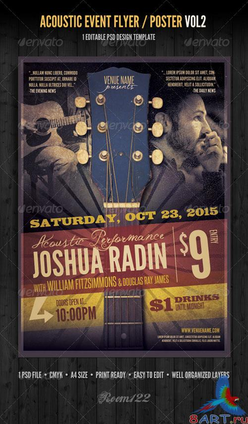 GraphicRiver - Acoustic Event Flyer/Poster Template Vol 2 - 2712810