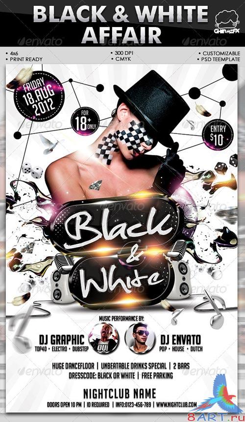 GraphicRiver Black & White Affair Flyer Template