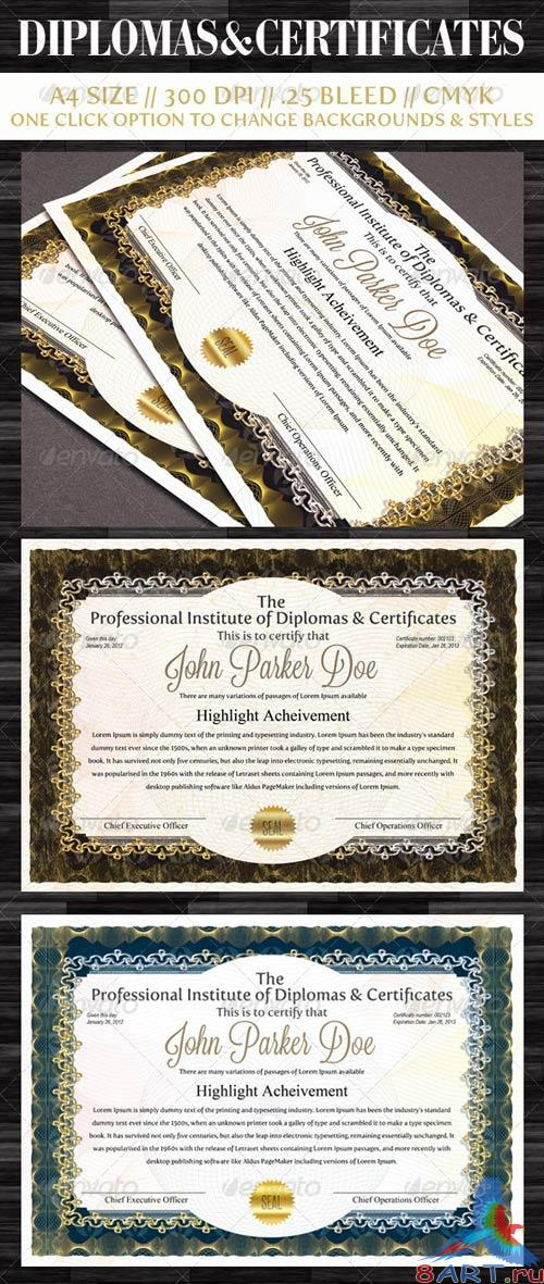 GraphicRiver Diplomas & Certificates