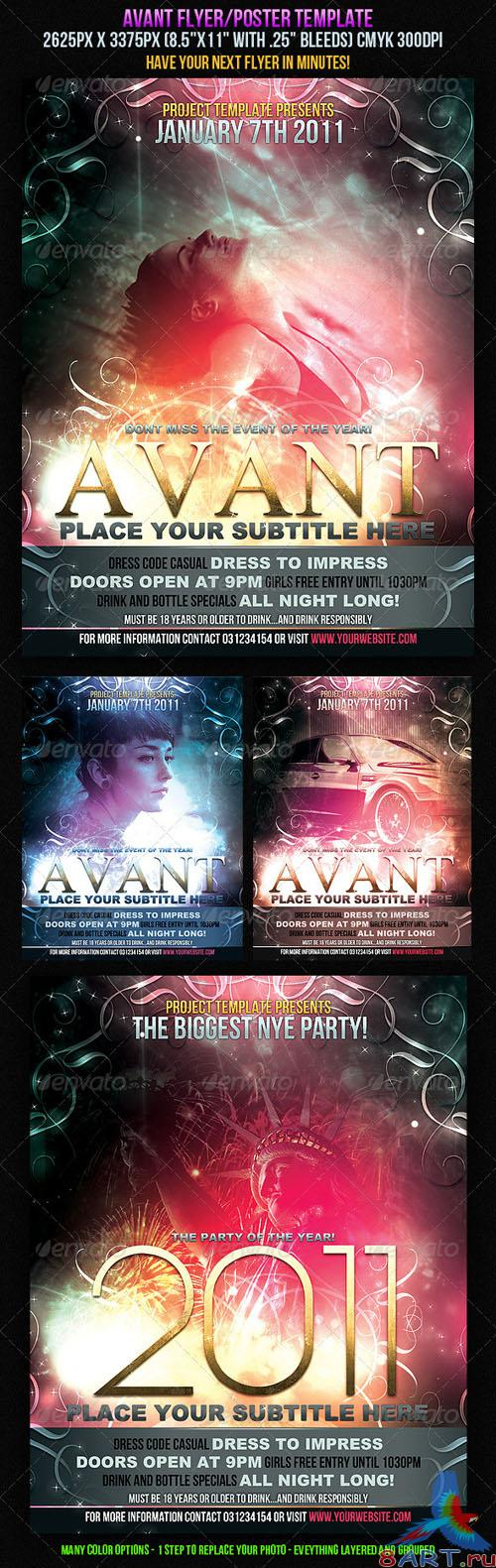 Avant Flyer/Poster Template - GraphicRiver