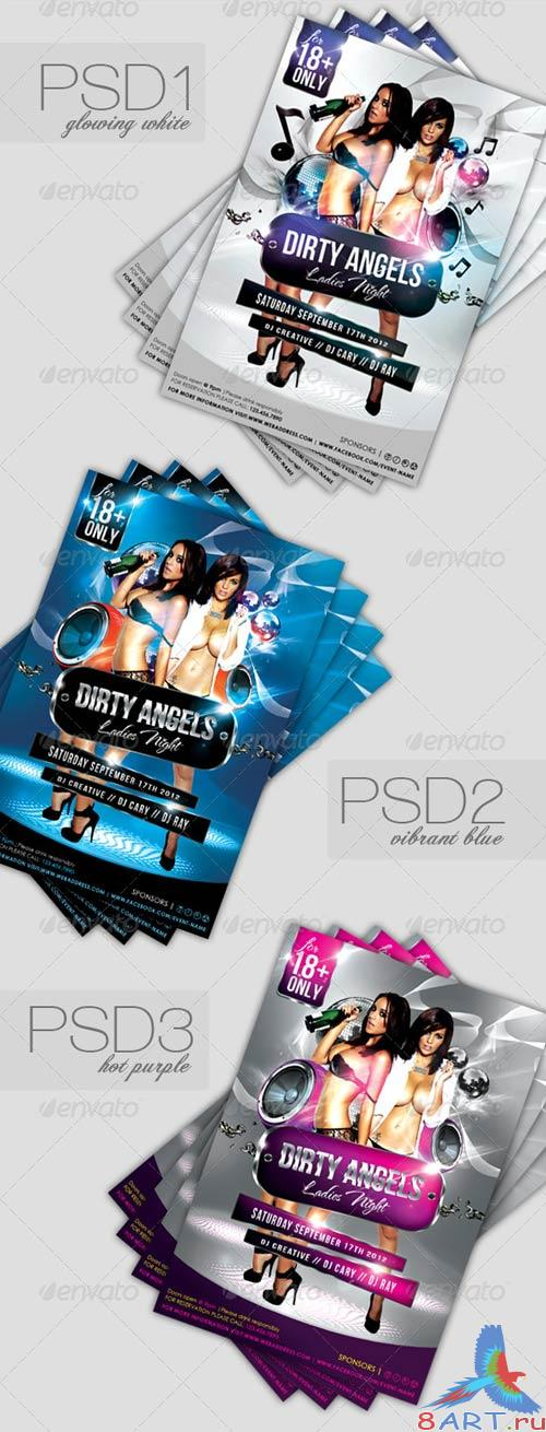 GraphicRiver Dirty Angels Ladies Night Party Flyer