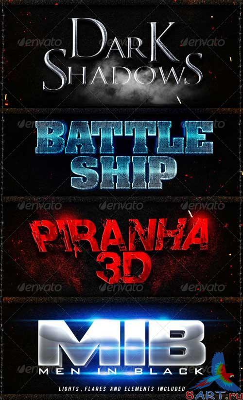 GraphicRiver Game and Movies Photoshop Styles V2
