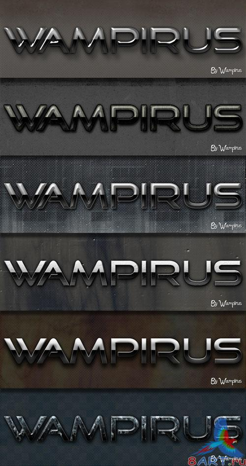 Wampirus 3D Text Effect (Pack 1)
