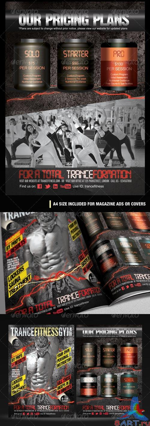GraphicRiver TranceFitness Flyer, AD or Magazine Cover Template