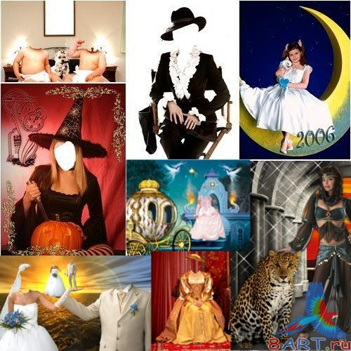 Woman Costumes Templates PSD #9