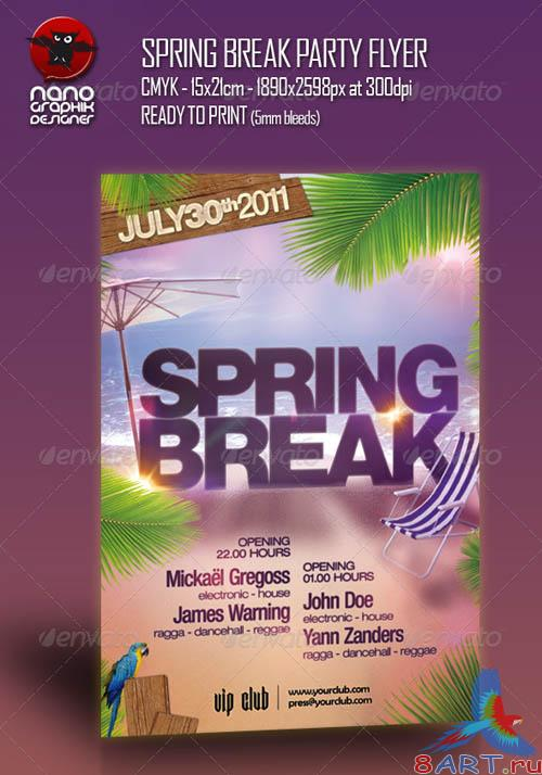 GraphicRiver Spring Break Party Flyer