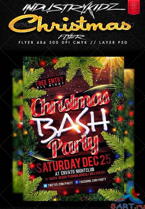GraphicRiver Christmas Party Flyer Templates 3354338